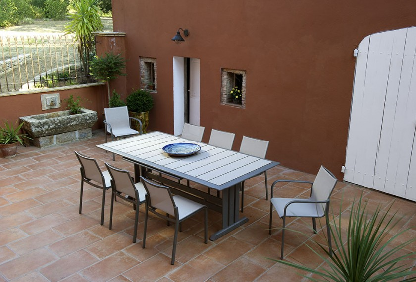 Table Hegoa extensible (pied central), Les Jardins