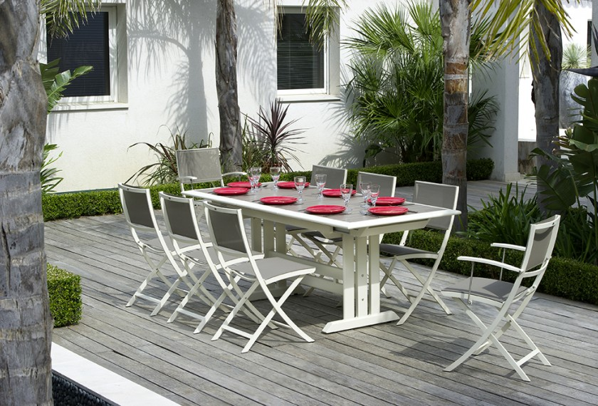 Acheter Table Hegoa Les Jardins extensible (pied central ...