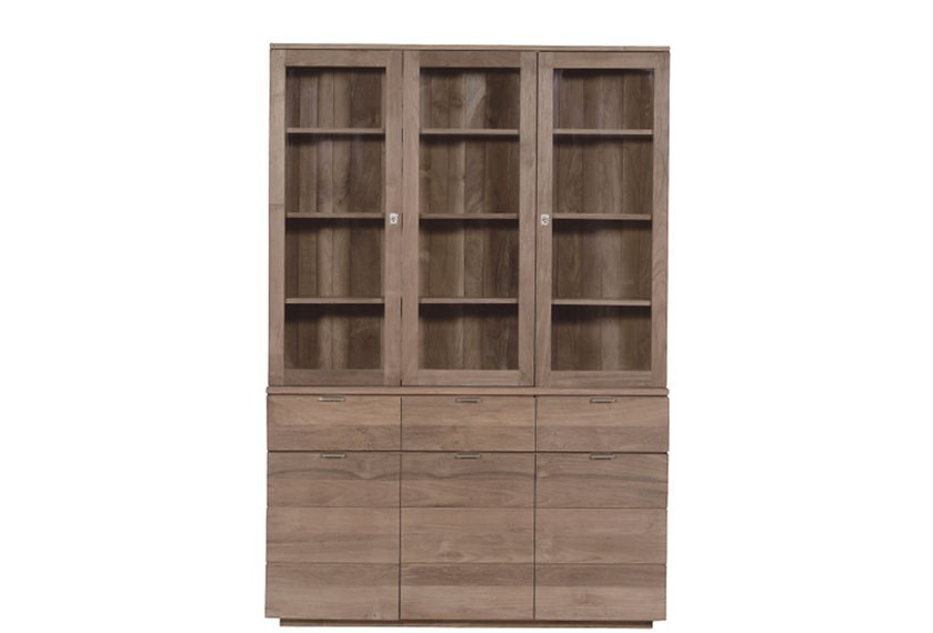 vaisselier groove en teck. Black Bedroom Furniture Sets. Home Design Ideas