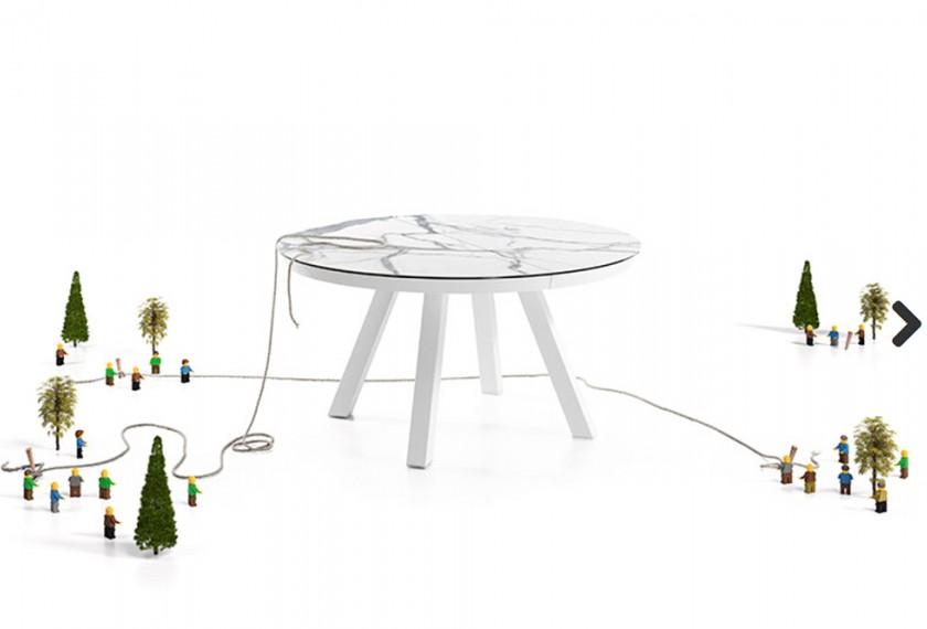 Acheter table esla mobliberica meubles valence 26 for Miroir semi reflechissant acheter