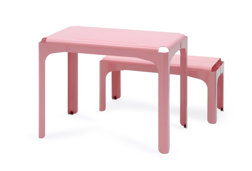 bureau banc enfants tolix. Black Bedroom Furniture Sets. Home Design Ideas