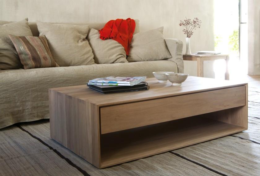 Acheter table basse ch ne nordic meubles valence 26 - Table de salon avec tiroir ...
