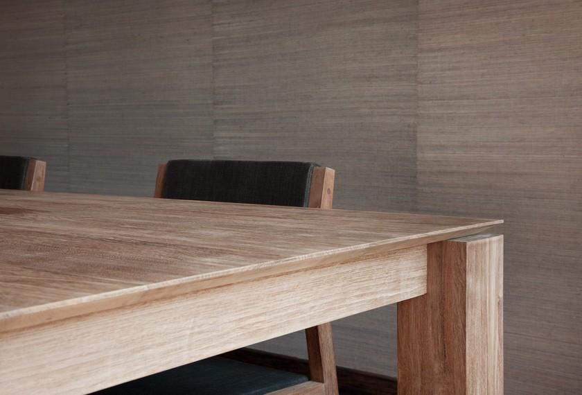 Acheter table slice en teck meubles valence 26 for Salle a manger table en teck
