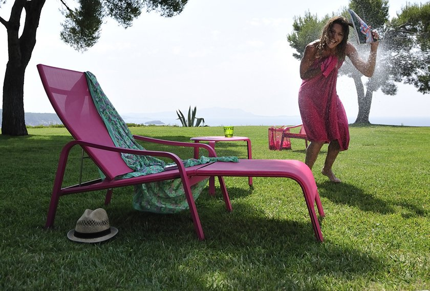 acheter fauteuil aliz deck chair avec repose pied meubles valence 26. Black Bedroom Furniture Sets. Home Design Ideas