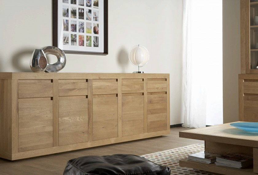 acheter buffet bas flat en ch ne meubles valence 26. Black Bedroom Furniture Sets. Home Design Ideas